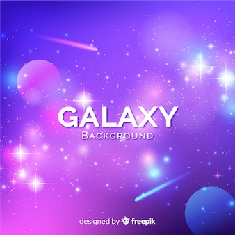 Lovely galaxy background with colorful style