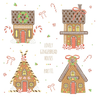 Lovely gingerbread house collection