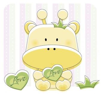 Lovely giraffe with heart
