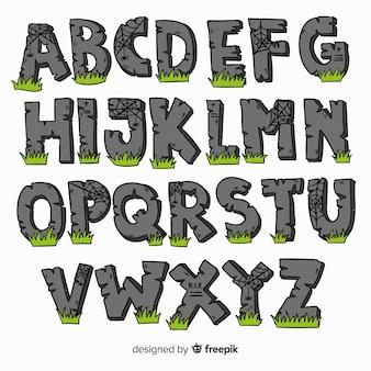Lovely halloween alphabet