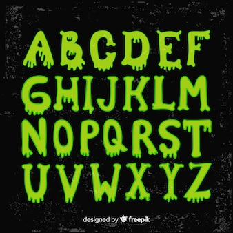 Lovely halloween alphabet