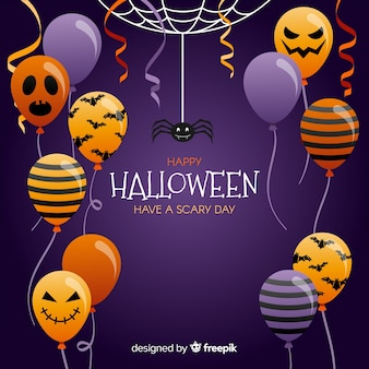 Lovely halloween balloon background