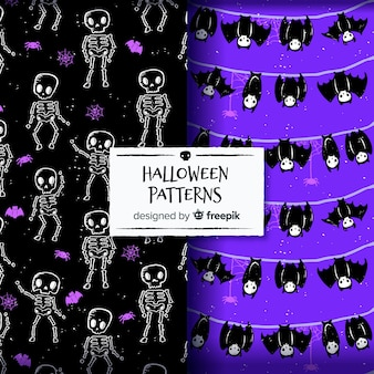 Lovely halloween pattern background collection
