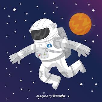 Симпатичный персонаж космонавта Бесплатные векторы
