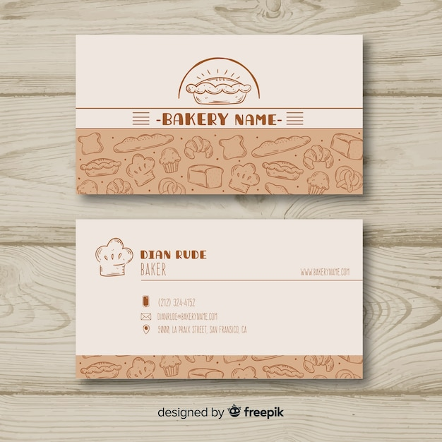 Free Lovely Hand Drawn Business Card Template Svg Dxf Eps Png 7