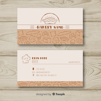 Lovely hand drawn business card template