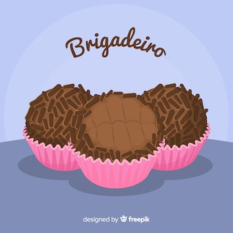 Lovely hand drawn chocolate muffin