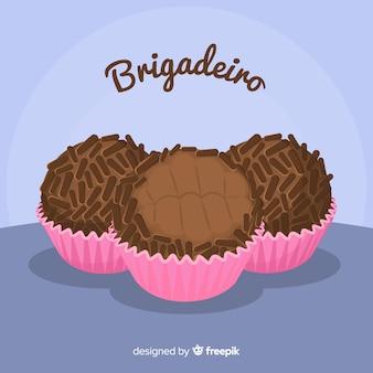 Прекрасный ручной шоколадный кекс