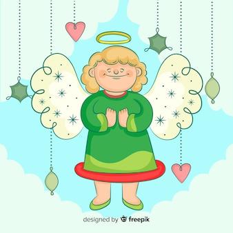 Lovely hand drawn christmas angel