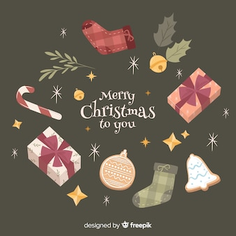 Lovely hand drawn christmas background