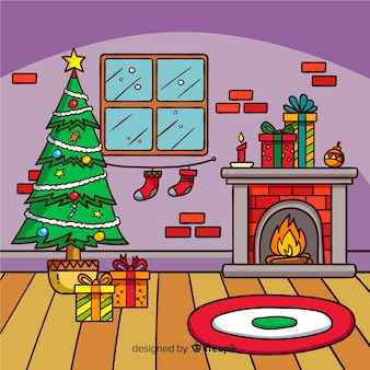 Christmas Living Room Vectors Photos And Psd Files Free Download