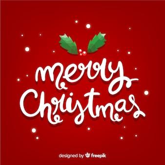 Lovely hand drawn christmas lettering