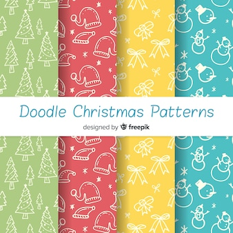 Lovely hand drawn christmas pattern collection