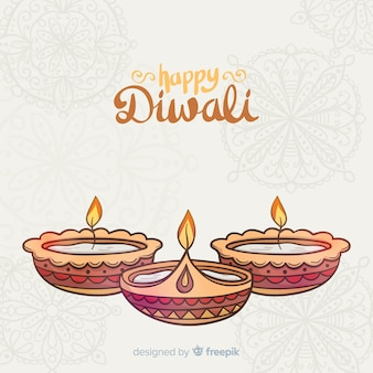 Lovely hand drawn diwali background