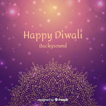 Lovely hand drawn diwali background