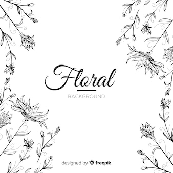 Lovely hand drawn floral background