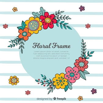 Lovely hand drawn floral frame