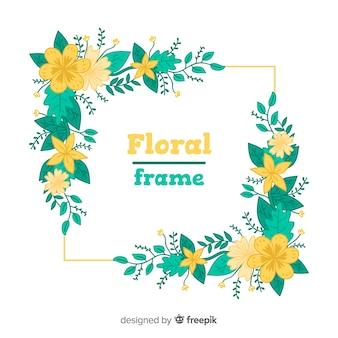 Lovely hand drawn floral frame