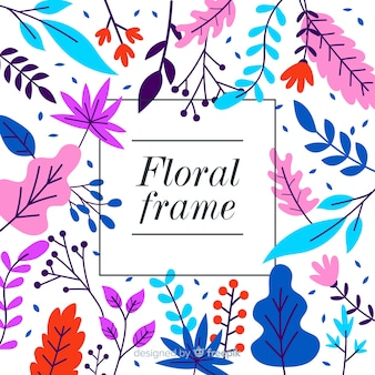 素敵な手描きの花のフレーム