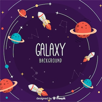 Lovely hand drawn galaxy background