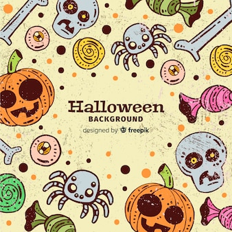 Lovely hand drawn halloween background