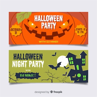 Lovely hand drawn halloween banners