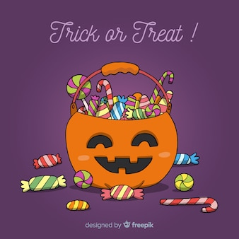 Lovely hand drawn halloween candy bag