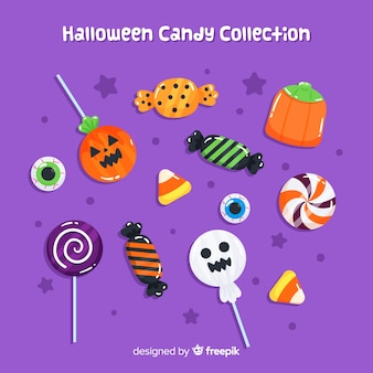 Lovely hand drawn halloween candy collection