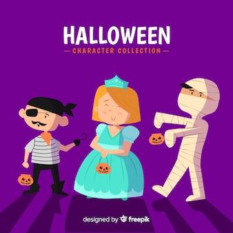 Disegnato a mano bella collezione di personaggi di halloween