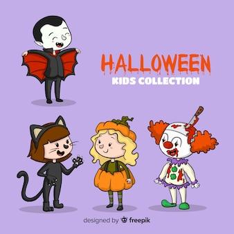 Lovely hand drawn halloween kids