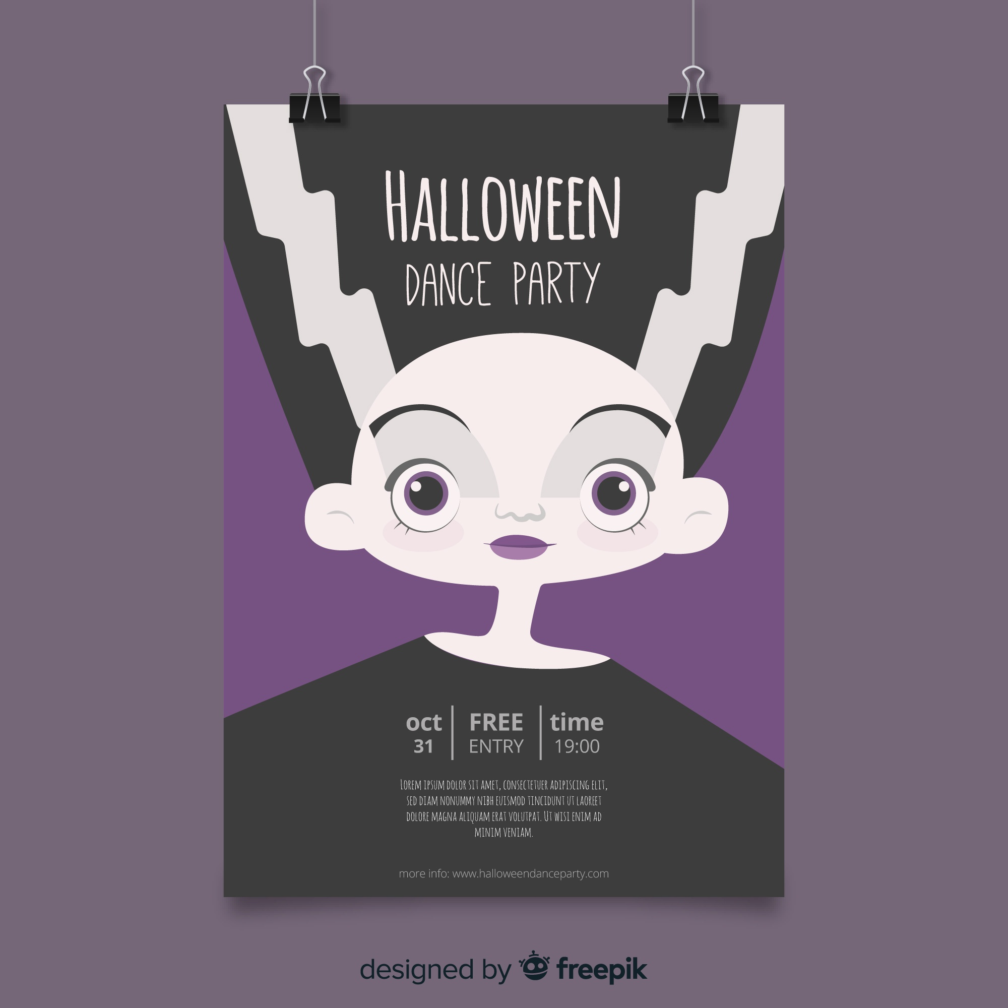 Lovely hand drawn halloween party poster