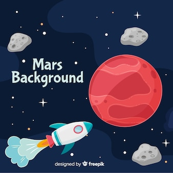 Lovely hand drawn mars background