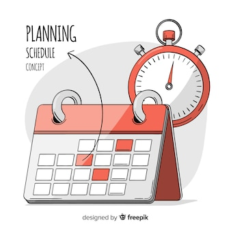 Lovely hand drawn planning schedule concept