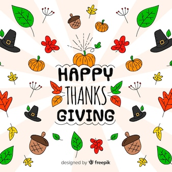 Lovely hand drawn thanksgiving background