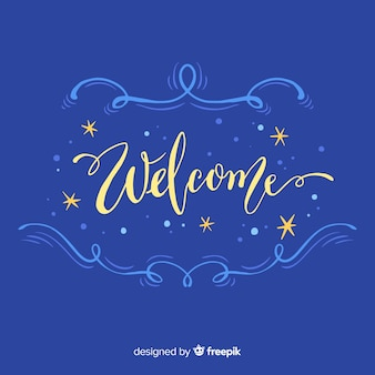 Lovely hand drawn welcome composition