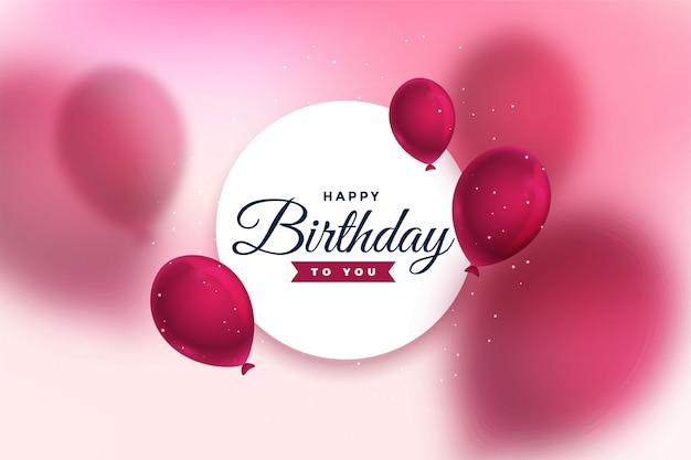 Lovely happy birthday celebration greeting card design