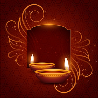 Lovely happy diwali background with text space
