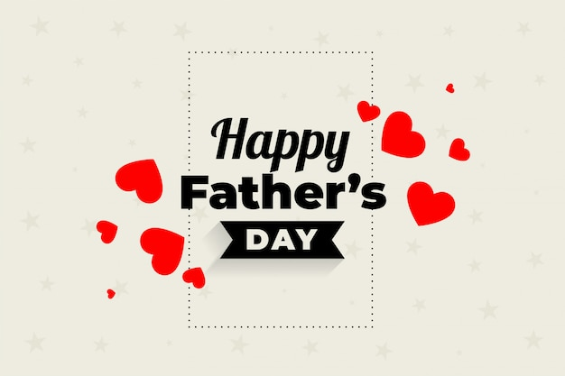 Lovely happy fathers day hearts design