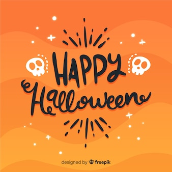 Lovely happy halloween lettering background