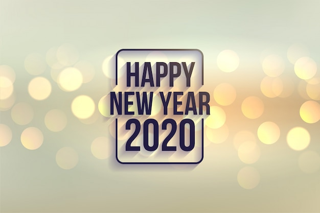 Lovely happy new year 2020 bokeh style background