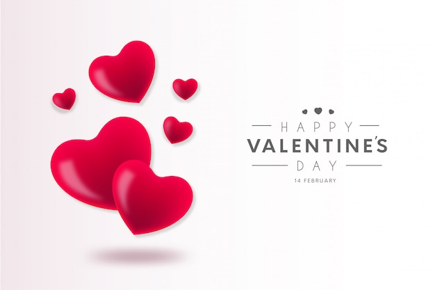 Lovely happy valentine's day background