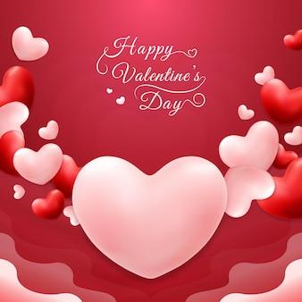 Lovely happy valentine's day background