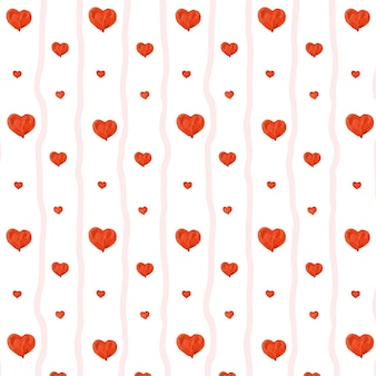 Lovely heart seamless pattern