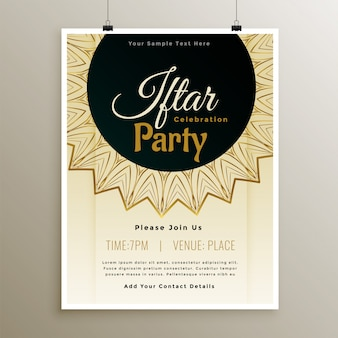 Lovely iftar party celebration template design
