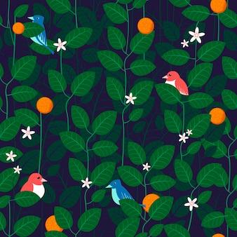 Прекрасный лист бесшовный фон фон в зеленом
