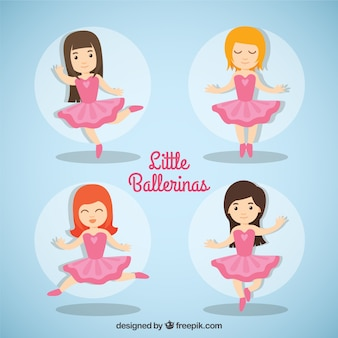 Lovely little ballerinas with pink dress