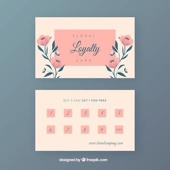 꽃 스타일로 사랑스러운 충성도 카드 템플릿