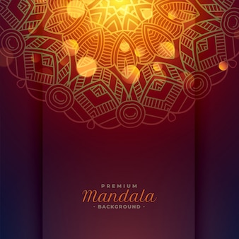 Lovely mandala art background