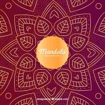 Lovely mandala background with golden style