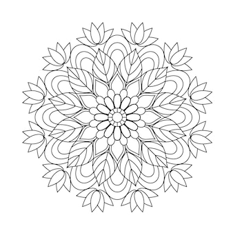 Lovely mandala portfolio colouring book for adults relaxing.